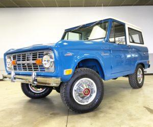 1969 Ford Bronco Harbor Blue Restoration