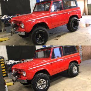 1974 Ford Bronco Explorer Red