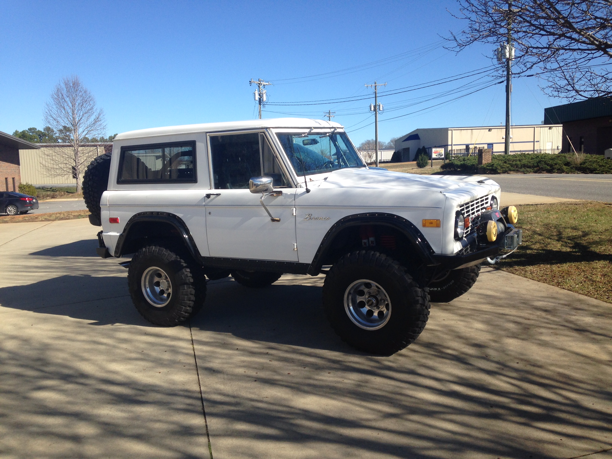 "1974 Ford Bronco White 35"" Tires"