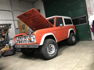 1972 Ford Bronco Orange Frame Off Restoration