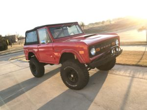 1971 Ford Bronco Red