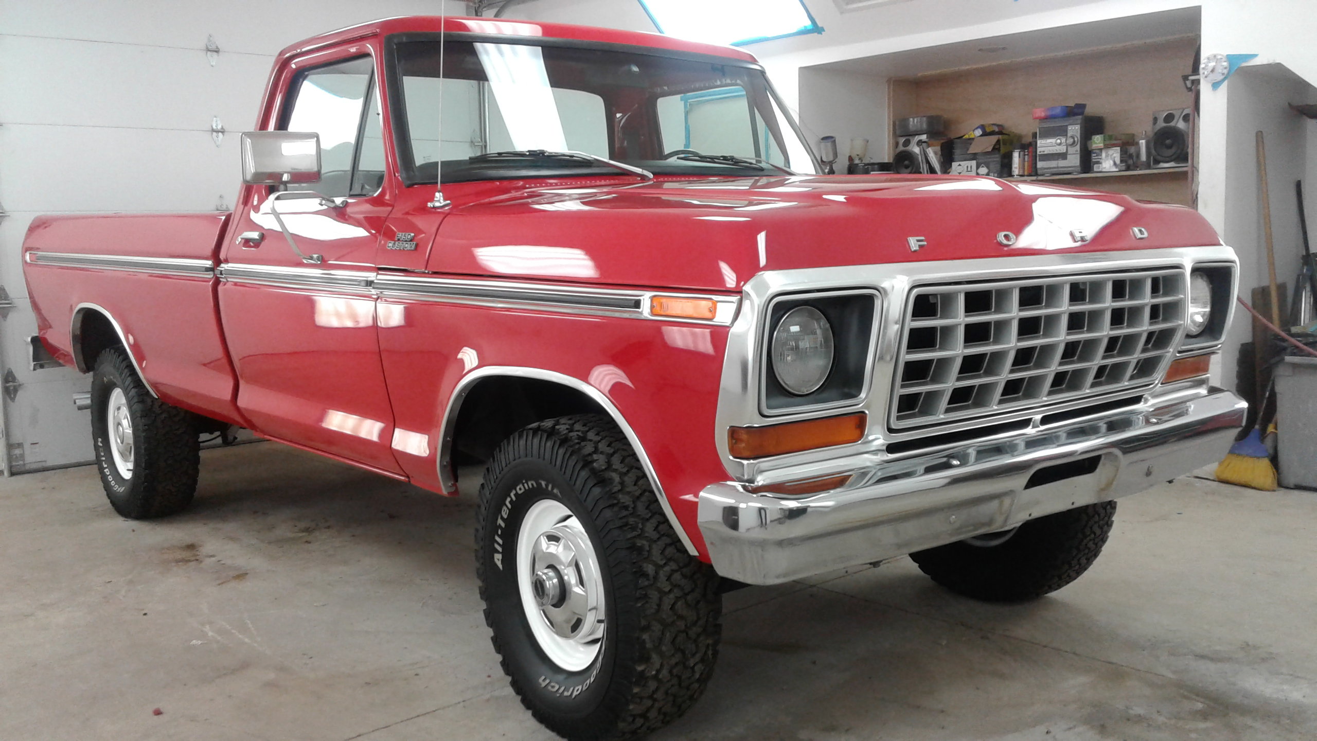 1978 Ford F-150 4x4 red