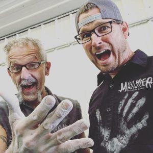 Erik with Bondo handprint