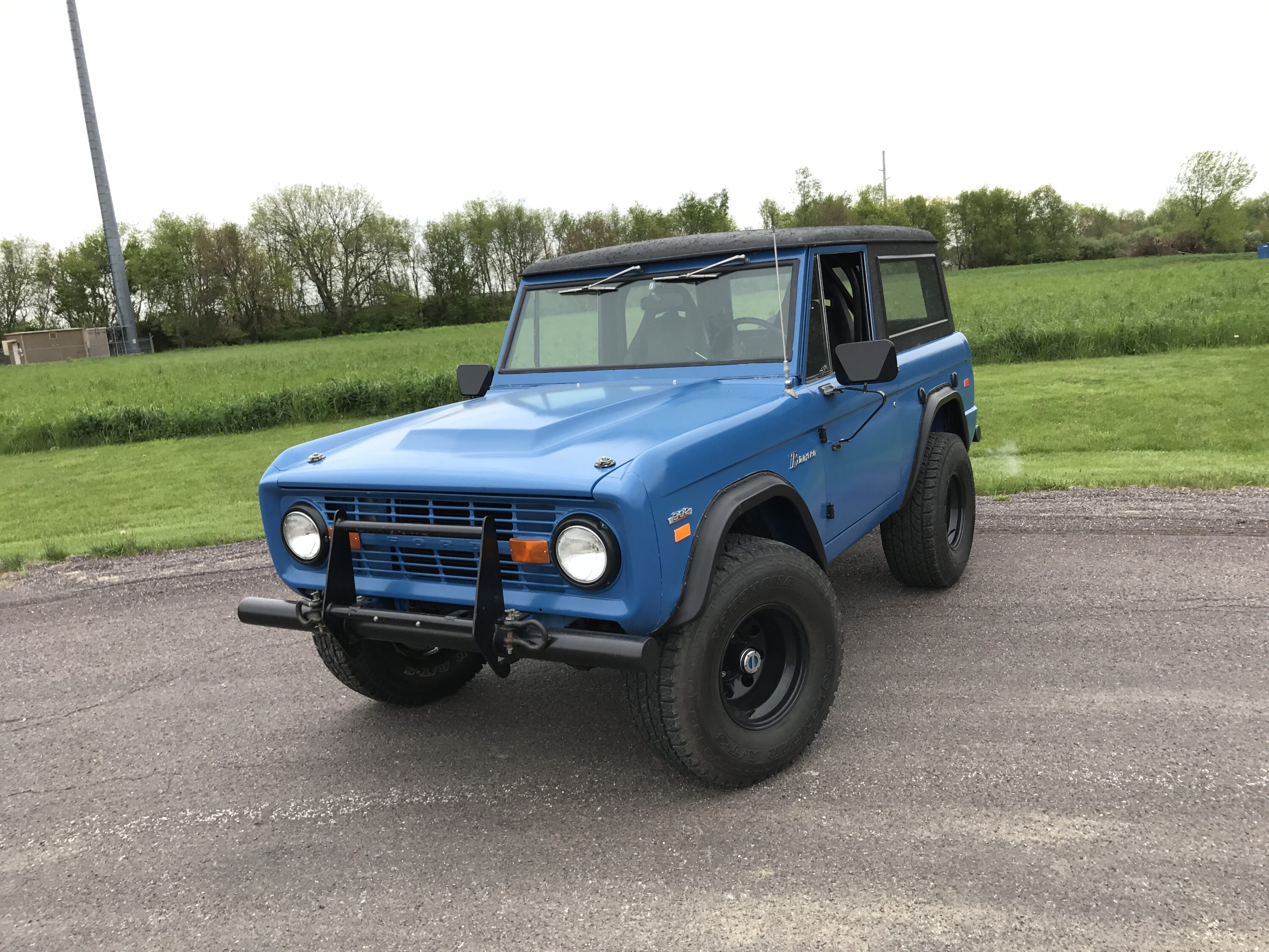 1969 Ford Bronco Blue and Black