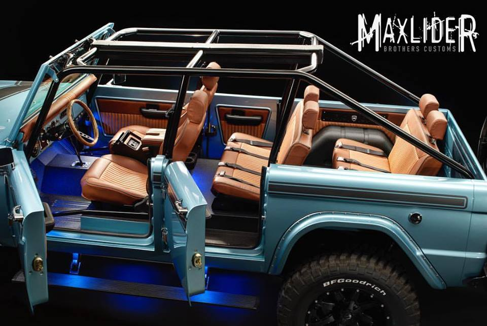 The Ford Bronco was launched in 1966 as a 2-door 4-wheel-drive off-road beast. Ford wanted a sporty 4×4 that piggy-backed off the wildly successful ... & Maxlideru0027s 4-Door 1966 Ford Bronco: An Inside Look | Maxlider ...